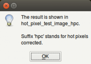 A new image is created with the hot / cold pixels corrected.