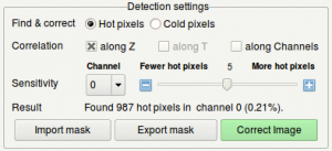 The detection settings box.