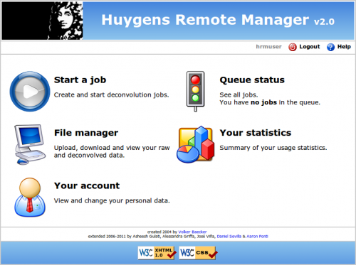 HRM: a web interface for Huygens Core.